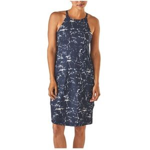 New Patagonia sliding rock dress navy blue halter